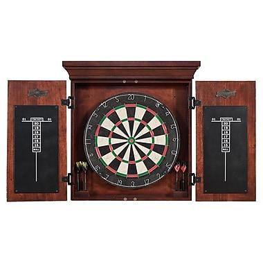 American Heritage Athos Dart Board Cabinet Set