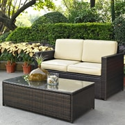 Crosley Palm Harbor 2 Piece Seating Group with Cushions