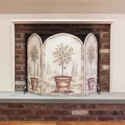 Stupell Industries Orange and Lemon Trees 3 Panel Fireplace Screen