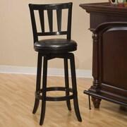 Hillsdale Presque Isle 25.5'' Swivel Bar Stool with Cushion; Black