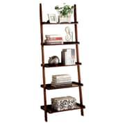 Hokku Designs Quint 74.75'' Ladder Bookcase; Cherry