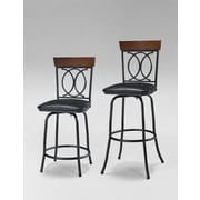 Linon Adjustable Height Swivel Bar Stool with Cushion (Set of 3)
