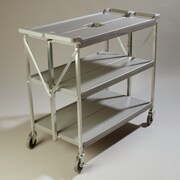 Carlisle Sanitary Maintenance Products Fold 'N Go  Serving Cart; Gray
