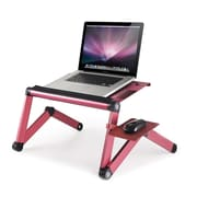 Furinno Ergonomics Adjustable Laptop Cart; Pink