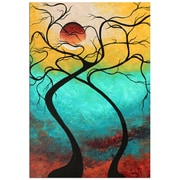 Metal Art Studio  Twisting Love III  by Megan Duncanson Painting Print Plaque