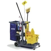 Carlisle Sanitary Maintenance Products Short Platform Janitor Utility Cart