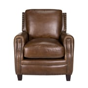 Opulence Home Bradford II Leather Chair Arm Chair; Coventry Brown