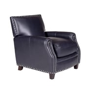 Opulence Home Madrid Leather Press Back Arm Chair; Verona Navy