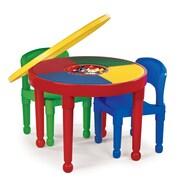Tot Tutors 4 Piece Round Activity Table  & 10'' Chair Set