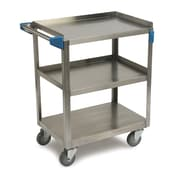 Carlisle Sanitary Maintenance Products 3 Shelf Utility Cart; 15.5'' W x 24'' D