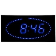 Big Time Clocks Super Bright LED Ellipse Blue LED DOT Clock