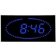 Big Time Clocks Super Bright LED Ellipse Blue LED DOT Clock