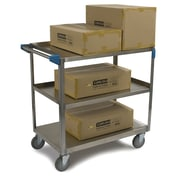 Carlisle Sanitary Maintenance Products 3 Shelf Utility Cart; 18'' W x 27'' D