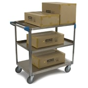 Carlisle Sanitary Maintenance Products 3 Shelf Utility Cart; 21'' W x 35'' D