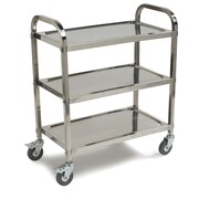 Carlisle Sanitary Maintenance Products Knockdown Utility Cart; Small