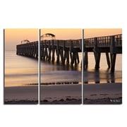 Ready2hangart 'Sun Pier' by Nicola Lugo 3 Piece Photographic Print on Wrapped Canvas Set