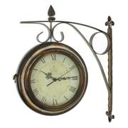 Aspire Rialto 15'' Two Sided Train Station Wall Clock