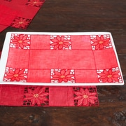 Saro Embroidered and Cutwork Tray Cloth (Set of 12)