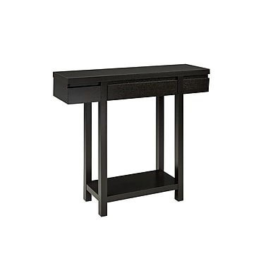 Brassex 10341 Console Table with Storage Drawer, 36 x 11 x 34, Dark Cherry