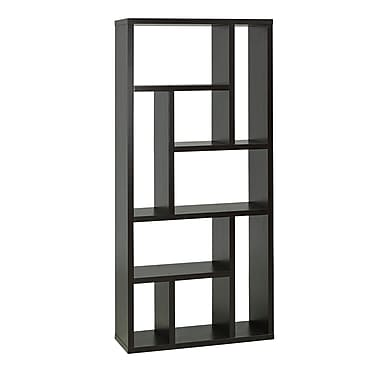 Brassex 11399 Multi-Tier Display Shelf, 31 x 11 x 70, Dark Cherry