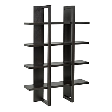Brassex 11401 4-Tier Display Shelf, 47.5 x 15 x 71, Dark Cherry