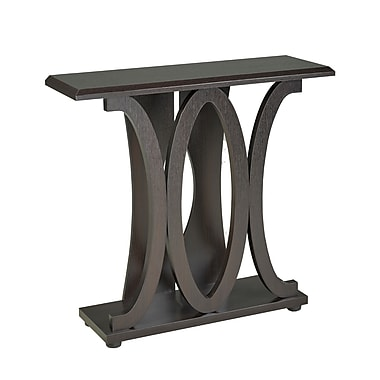 Brassex 13704 Console Table, Dark Cherry, 36 x 11.5 x 33.5