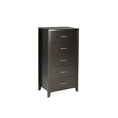 Brassex 14861 5 Drawer Chest, Dark Cherry, 23 x 15.5 x 44.5