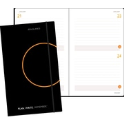 "AT-A-GLANCE® Two-Days-Per-Page Planning Notebook,  Black,  5-1/8"" x 8-1/4"""