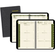 "2016 AT-A-GLANCE Recycled Weekly/Monthly Appointment Book Planner, 4 7/8"" x 8"", Black, (70-100G-05)"