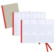 """2016 AT-A-GLANCE® Collection: Weekly/Monthly Planner, Tan/Red, 5 1/2"""" x 8 1/4"""", (YP106-0716)"""