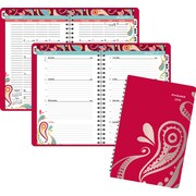 "2016 AT-A-GLANCE® Playful Paisley Weekly/Monthly Appointment Book Planner, 5 1/2"" x 8 1/2"", (952P-200-16)"