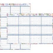 """2016 Staples® Two-Sided Erasable Yearly Wall Planner, 36"""" x 24"""", Design, (19646-16)"""