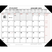 """2016 AT-A-GLANCE® Two-Color Desk Pad, 22"""" x 17"""", White/Red, (SK1170-00)"""