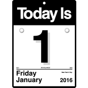 "2016 AT-A-GLANCE® ""Today Is"" Wall Calendar, 6 5/8"" x 9 1/8"", White, (K1-00)"