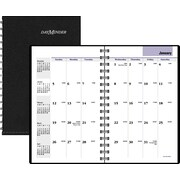 "2016 DayMinder® Monthly Planner, 3 3/4"" x 6"", Black, (G450-00)"