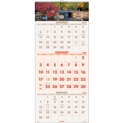 "2016 AT-A-GLANCE® Scenic Three-Month Wall Calendar, 12 1/4"" x 27"", Design, (DMW503-28)"