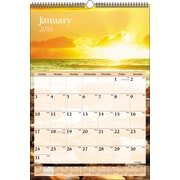 "2016 AT-A-GLANCE® Scenic Wall Calendar, 15 1/2"" x 22 3/4"", Design, (DMW201-28)"