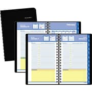 "2016 AT-A-GLANCE® QuickNotes® Recycled Daily/Monthly Appointment Book Planner, 4 7/8"" x 8"", Black, (76-04-05)"