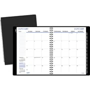 "2016 Staples® Recycled Monthly Planner, Black, 8"" x 11"", Black, (21496-16)"