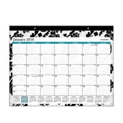 "2016 AT-A-GLANCE® 2016 Madrid Desk Pad Calendar, Design, (SK93-704-16), 22 1/16"" X 17 1/8"""