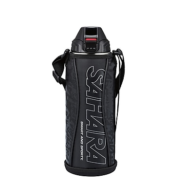 Tiger 1.0L Stainless Steel Thermal Bottle with Carrying Case, Black