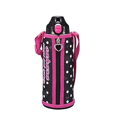 Tiger 1.0L Stainless Steel Thermal Bottle with Carrying Case, Pink