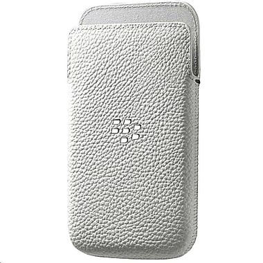 BlackBerry Leap Leather Pocket Phone Case, White
