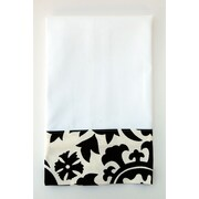 Samantha Grace Designs Egyptian Cotton Huck Hand Towel; Black / White