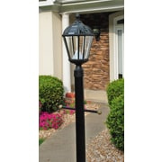 Gama Sonic Royal Seven-LED Solar Light Fixture on Three-Inch-Diameter Pole Fitter; Black