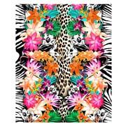 Kaufman Sales Animal and Flower Print Beach Towel