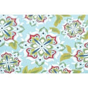 Park Avenue Rugs Andalucia Light Blue Indoor/Outdoor Area Rug; 2'6'' x 4'