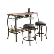 Steve Silver Furniture Dakota 3 Piece Pub Table Set