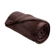 Madison Park Velour Plush Throw Blanket; Chocolate