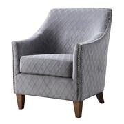 Emerald Home Furnishings Kismet Club Chair; Wembley Graphite
